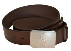 Polo Ralph Lauren Men's Big Pony Plaque Leather Belt Brown-38 Polo Ralph Lauren. $74.98