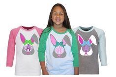 Girls Easter Shirt|Easter Bunny Monogram Baseball Raglan Kids Tee|Rabbit Monogram|Bunny Ears Monogram|Easter Monogram by GavinsAllyeDesigns on Etsy