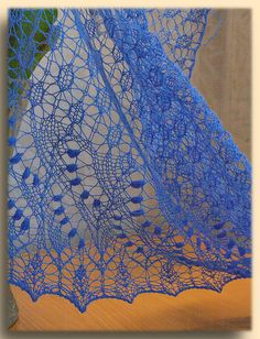 Swallowtail Shawl by xinki, via Flickr free pattern on ravelry. What lace is all about.