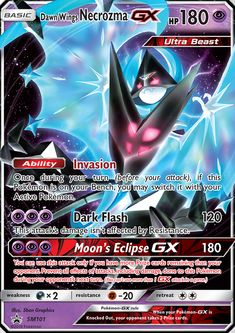 Fresh Card Pokemon Card Dawn Wing Necrozma GX SM101 Promo Holofoil