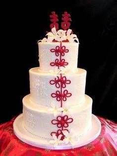 Chinese themed wedding cake