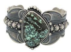 Gene Natan, Bracelet, Royal Web Turquoise, Sterling Silver, Navajo Made, 7 in - $535.00
