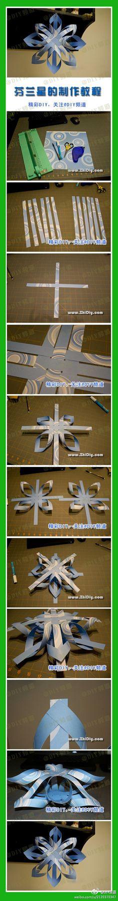 **DIY 3D Paper Star DIY 3D Paper Star