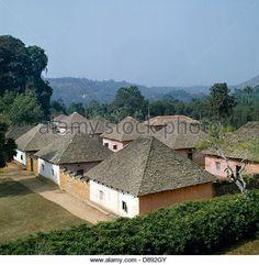 Bafut Cameroon Wive's Houses Fon's Palace - Stock Image