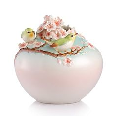 Franz Collection Beautiful Orchard Japanese White-Eye on Cherry Tree Vase | Bloomingdale's