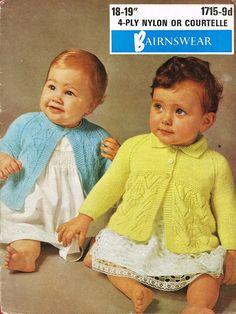 Bairnswear 1715 baby matinee coat vintage knitting by Ellisadine, £1.15
