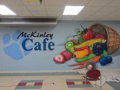 69 Ideas Wall Decored Ideas For Hallway Artworks School Hallways, School Murals, School Cafeteria Decorations, Cafeteria Design, Cafeteria Food, School Lunchroom, Ecole Design, School Painting, School Displays