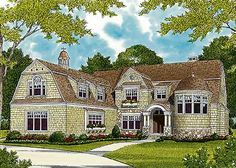 Luxurious Shingle Style Home Plan - 17658LV | Shingle, Traditional, Luxury, 1st Floor Master Suite, Bonus Room, Butler Walk-in Pantry, CAD Available, Den-Office-Library-Study, Elevator, Jack & Jill Bath, Loft, PDF, Corner Lot | Architectural Designs