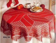Delicadezas en crochet Gabriela: Hermoso mantel para vestir la noche de navidad