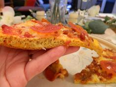 Ginny's Low Carb Kitchen: CHEESY BREAD PIZZA CRUST