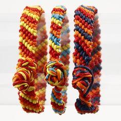 A Candy Stripe Friendship Bracelet