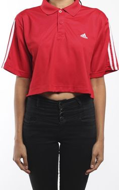 Vintage Adidas Collared Crop Tee