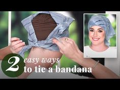 Learn 2 quick and easy ways to tie a bandana on your head! We'll show you the easiest ways to tie your bandanna to achieve full head coverage. How To Tie Bandana, Ways To Tie Scarves, Losing Hair Women, Forehead Headband, Head Scarf Tying, Head Scarf Styles, 2 Way, Scarf Hairstyles, Silver Hair