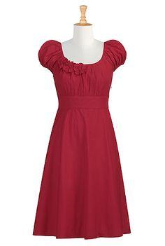eshakti: Rosette trim dress