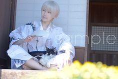 【刀剣乱舞】今年の冬コミで「鶴丸国永」写真集を発行予定ですヾ(゚∀゚)ノ 浴衣撮影に行ったらの猫に懐かれてしまって帰るまでずっとそばにいた。笑 photo by ヨッサン