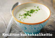 Kesäinen kukkakaalikeitto, Resepti: Valio #kauppahalli24 #resepti #keitto #kukkakaali #arkiruoka #kesäruoka #ruokaohje #ruokaanetistä
