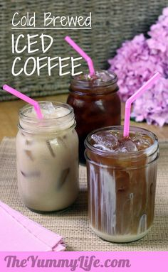 Cold-Brewed Iced Coffee. Get the smoothest taste without bitterness using this easy method.  TheYummyLife.com