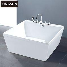 Luxuriöse Royal Modernes Design Acryl Weiß Badewanne Quadratisch, Klein  Bild Badewanne Produkt