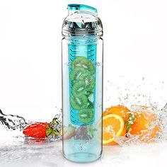 The best fruit infused water bottles and pitchers available. These infusers make creating flavored water recipes easier. Dishwasher safe and table ready. Fruit Infused Water, Fruit Water, Infused Water Bottle, Lemon Water, Water Bottles, Fruit Juice, Infused Waters, Bottle Bottle, Bottled Water
