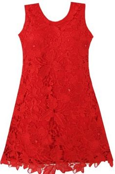 Sunboree BV91 Girls Dress Lace Red Party Pageant Wedding Kids Gift Size 4-5 Sunny Fashion,http://www.amazon.com/dp/B00AH0UE4A/ref=cm_sw_r_pi_dp_ZTeErb1687594497