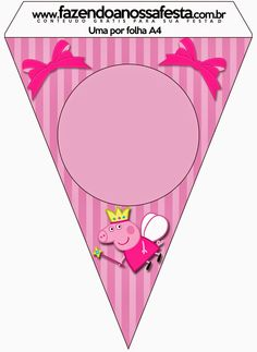Peppa Pig Fairy: Free Party Printables, Images and Backgrounds. Molde Peppa Pig, Cumple Peppa Pig, Peppa Pig Printables, Party Printables, Free Printables, Peppa Pig Birthday Decorations, Peppa Pig Birthday Cake, Peppa Pig Painting, Peppa Pig Images