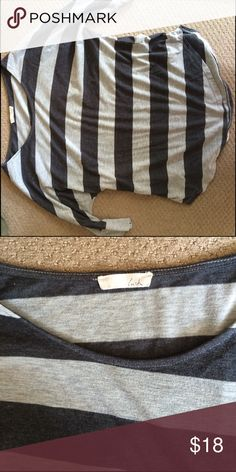Half sleeve striped casual shirt Soft, casual. Good condition. Lush Tops