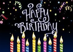 Colorful Candles Birthday - Birthday Cards from CardsDirect Happy Birthday For Her, Happy Birthday Pictures, Happy Birthday Gifts, Happy Birthday Greetings, Birthday Greeting Cards, Birthday Stuff, Birthday Quotes, Birthday Posters, Birthday Signs