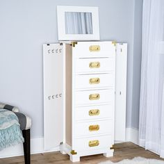 Hives & Honey Priscilla White Jewelry Armoire