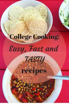 These are my favorite soup and chili recipes for cooking in college! Healthy College Meals, College Cooking, Chili Recipes, Snack Recipes, Cooking Recipes, Snacks, Dorm Food, Shopping List Grocery, Tasty