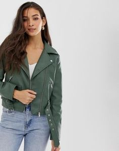 Vila belted faux leather biker jacket at ASOS. Shop this season's must haves with multiple delivery and return options (Ts&Cs apply). Asos, Coats For Women, Jackets For Women, Black Leather Biker Jacket, How To Look Classy, Pop Fashion, Fashion Outfits, Jacket Style, Simple Outfits