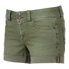 Juniors' Mudd FLX Stretch 2-Button Denim Midi Shorts