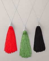 We all know Eddie Borgo by his spikes - but his tassel necklaces are quite keen.