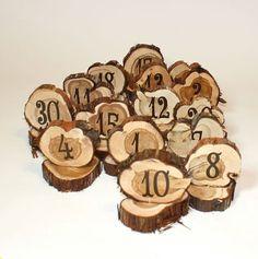 Numeri della tabella di nozze cerchi rustico di tricia16designs