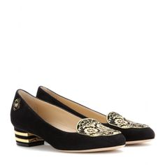 Mine ♥ Charlotte Olympia - Day of the Dead suede pumps - mytheresa.com
