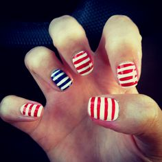 4th of July nails! Too cute!