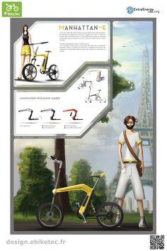 eBikeTec design contest public voting project: Manhatten-E name: Stefan Hermann Scooter Design, Design Projects, Public, Bike, Create, Friends, Image, Bicycle Kick, Bicycle