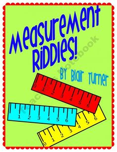 Measurement Riddles -- Measure to the Nearest 1/4 Inch product from Blair-Turner on TeachersNotebook.com