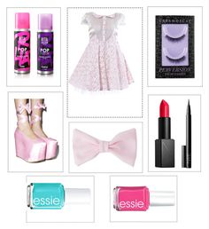 """Dollhouse-Inspired by Melanie Martinez"" by brooklynbeauty18 ❤ liked on Polyvore featuring Elena Perseil, Rita Hazan, Y.R.U., American Apparel, Urban Decay, NARS Cosmetics, Essie, Pink, music and doll"