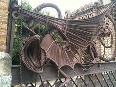 Gaudí dragon at the Finca Güell