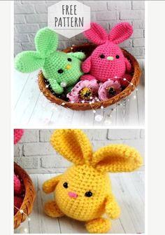 Crochet Easter, Easter Crochet Patterns, Holiday Crochet, Crochet Patterns Amigurumi, Crochet Crafts, Crochet Dolls, Crochet Yarn, Crochet Projects, Free Crochet