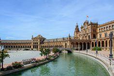 スペース, スペイン, セビリア, アーキテクチャ, 建物, スペイン広場