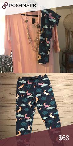 CP design long shirt and unicorn leggings Long shirt and unicorn leggings CP Design Pants Leggings
