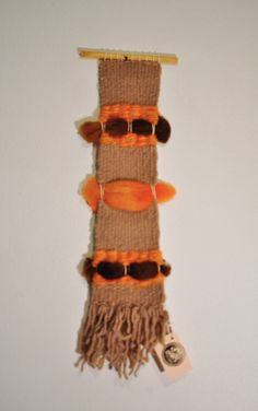 Weaving Wall Hanging Brown & Orange by 278studio on Etsy