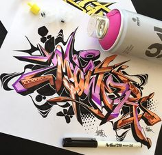 Amazing Wildstyle Graffiti Alphabet Letter on Paper  #Graffiti #Letter…
