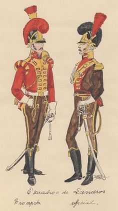 "7th. Line Cavalry Regt. ""Lanceros de La Mancha""- Trumpeter and Officer"