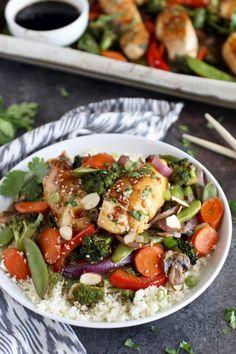 One-Pan Teriyaki Chicken Veggie Bake - The Real Food Dietitians