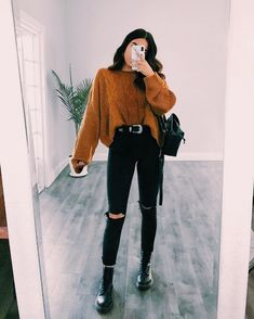 20 Casual Fall Outfits Ideas for Women Fashionista Trends - Summer Outfits Winter Fashion Outfits, Casual Fall Outfits, Grunge Outfits, Grunge Fashion, Spring Outfits, Trendy Outfits, Autumn Fashion, Korean Outfits, Chic Outfits