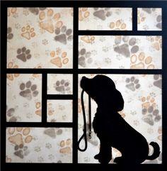 EZLaserDesigns : Friends Fur-Ever Art scrapbook overlay dog puppy pet More