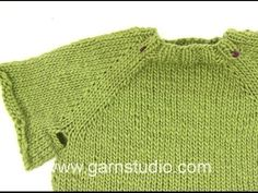How to knit a jumper top down - YouTube