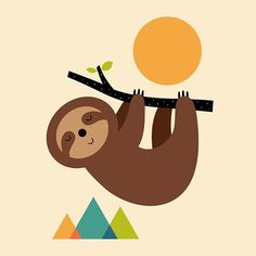 """«Keep Calm And Live Slow Sloth said: """" Take a deep breath, learn to keep calm and live slow, then you can enjoy your food, friends, family and life more :…»"""